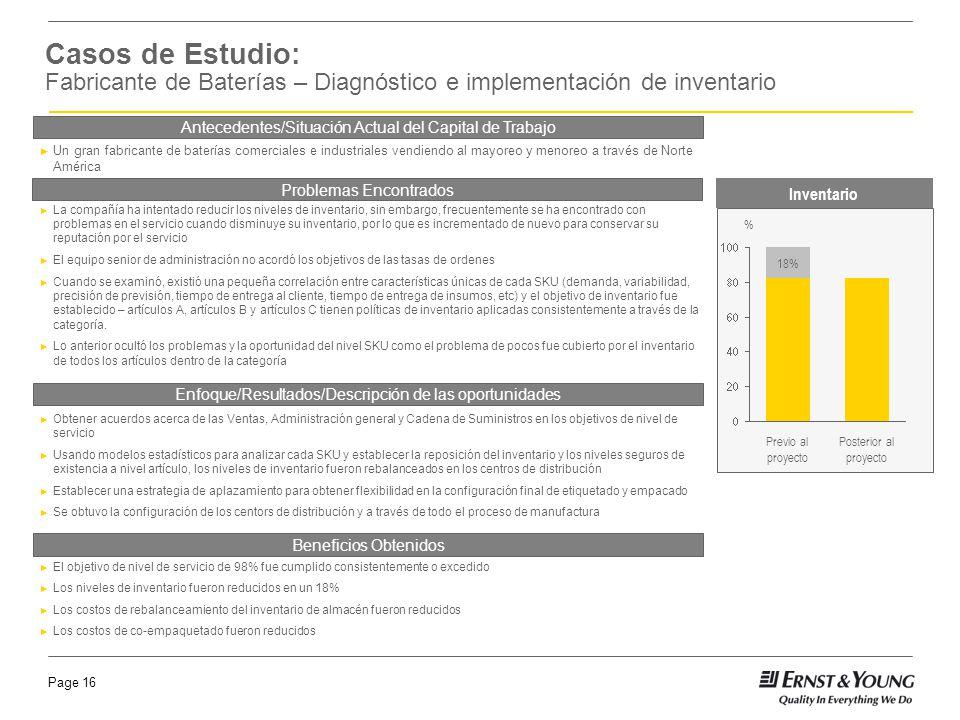 Casos de Estudio: Fabricante de Baterías – Diagnóstico e implementación de inventario