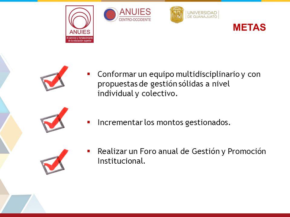 METAS Conformar un equipo multidisciplinario y con propuestas de gestión sólidas a nivel individual y colectivo.