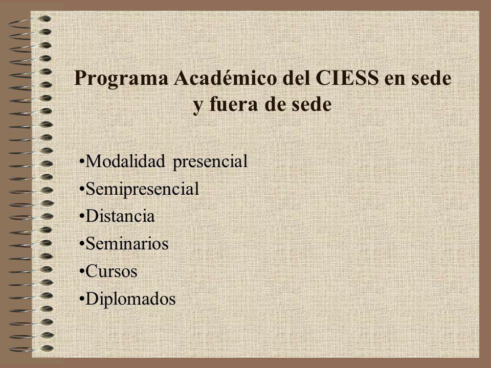 Programa Académico del CIESS en sede y fuera de sede