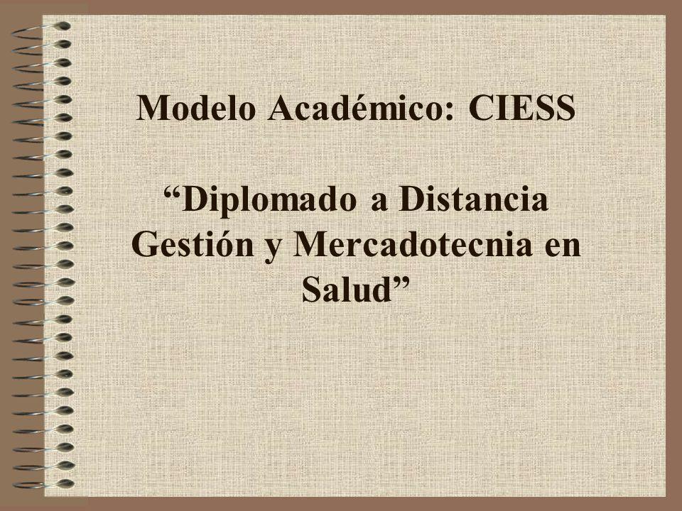 Modelo Académico: CIESS Diplomado a Distancia Gestión y Mercadotecnia en Salud