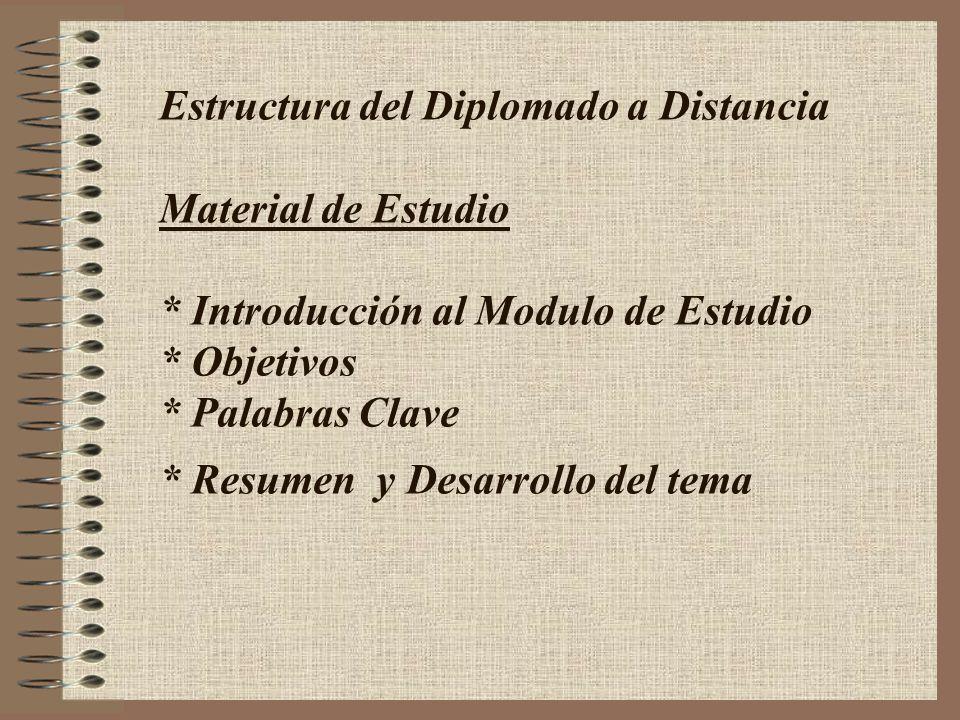 Estructura del Diplomado a Distancia Material de Estudio