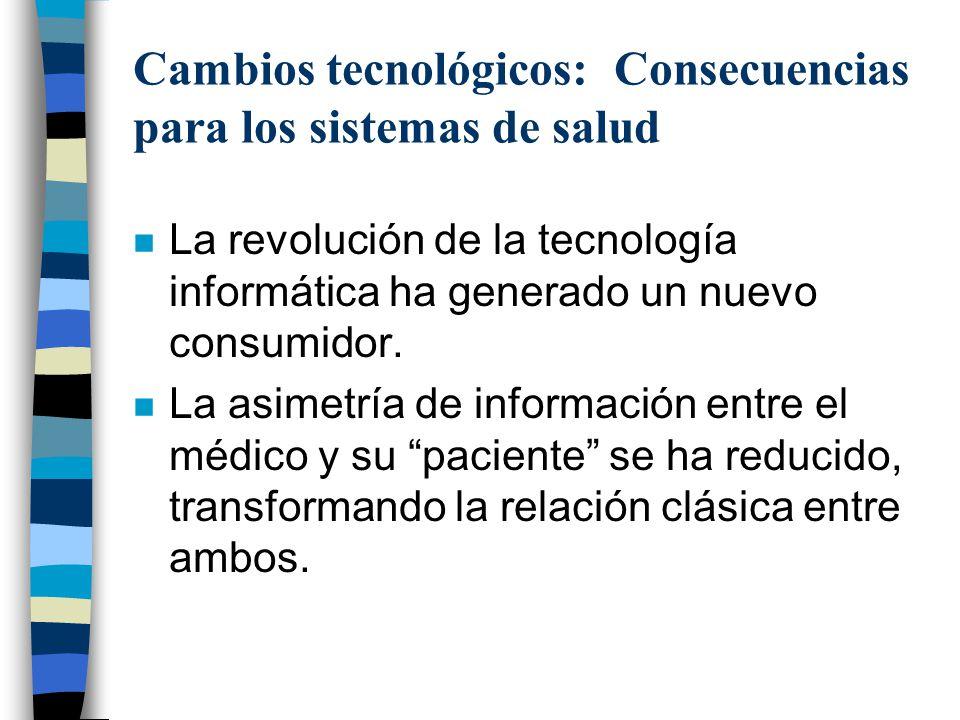 Cambios tecnológicos: Consecuencias para los sistemas de salud