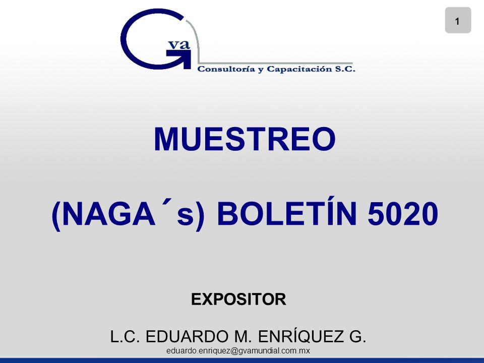 MUESTREO (NAGA´s) BOLETÍN 5020