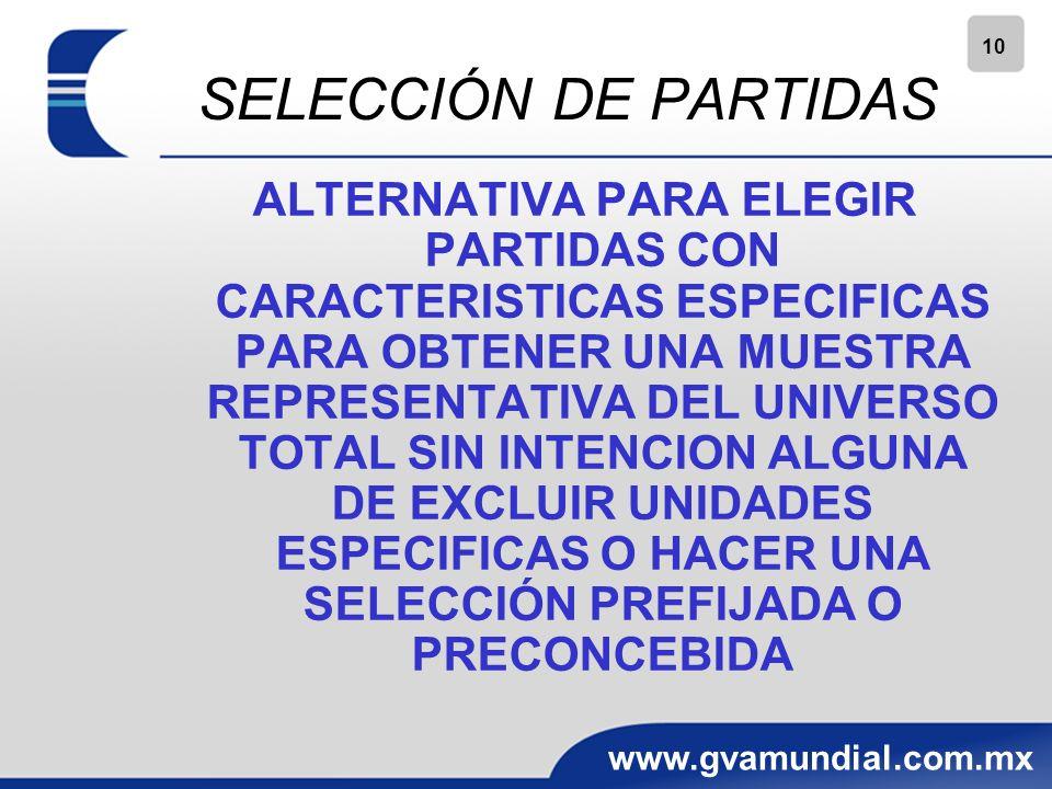 SELECCIÓN DE PARTIDAS