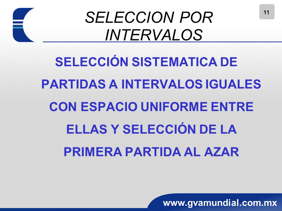 SELECCION POR INTERVALOS