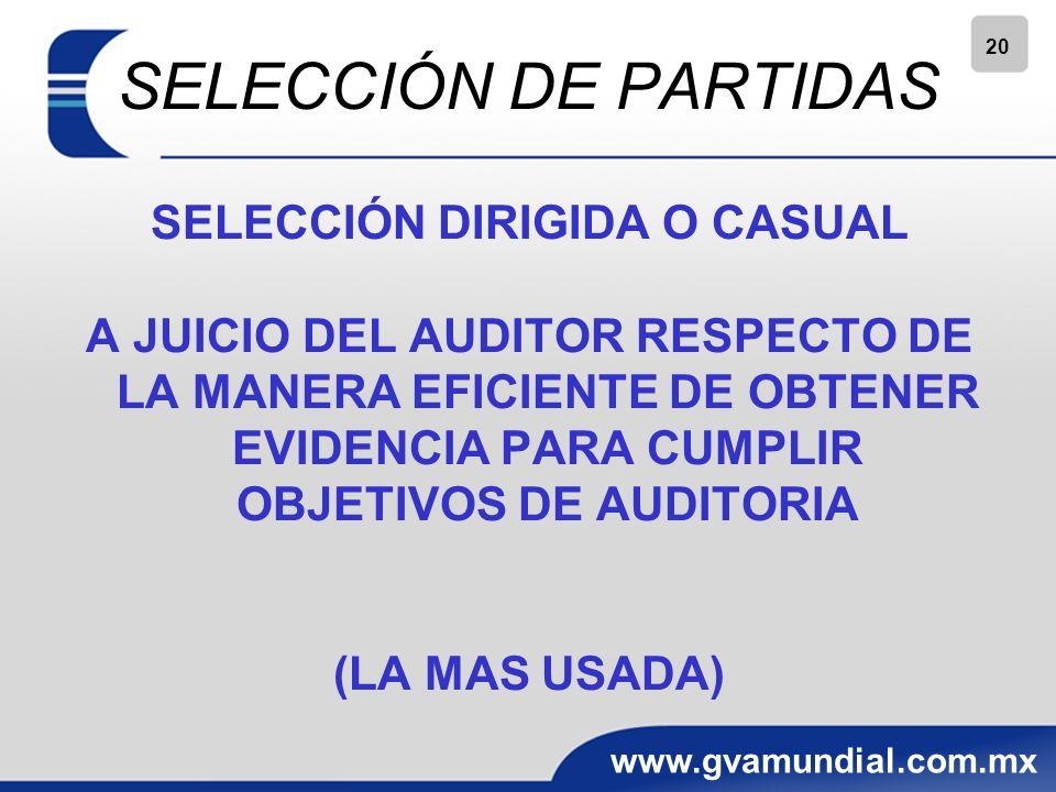 SELECCIÓN DIRIGIDA O CASUAL