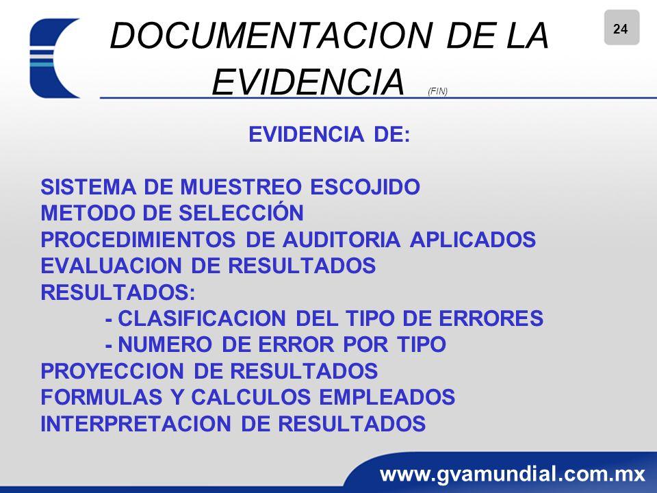 DOCUMENTACION DE LA EVIDENCIA (FIN)
