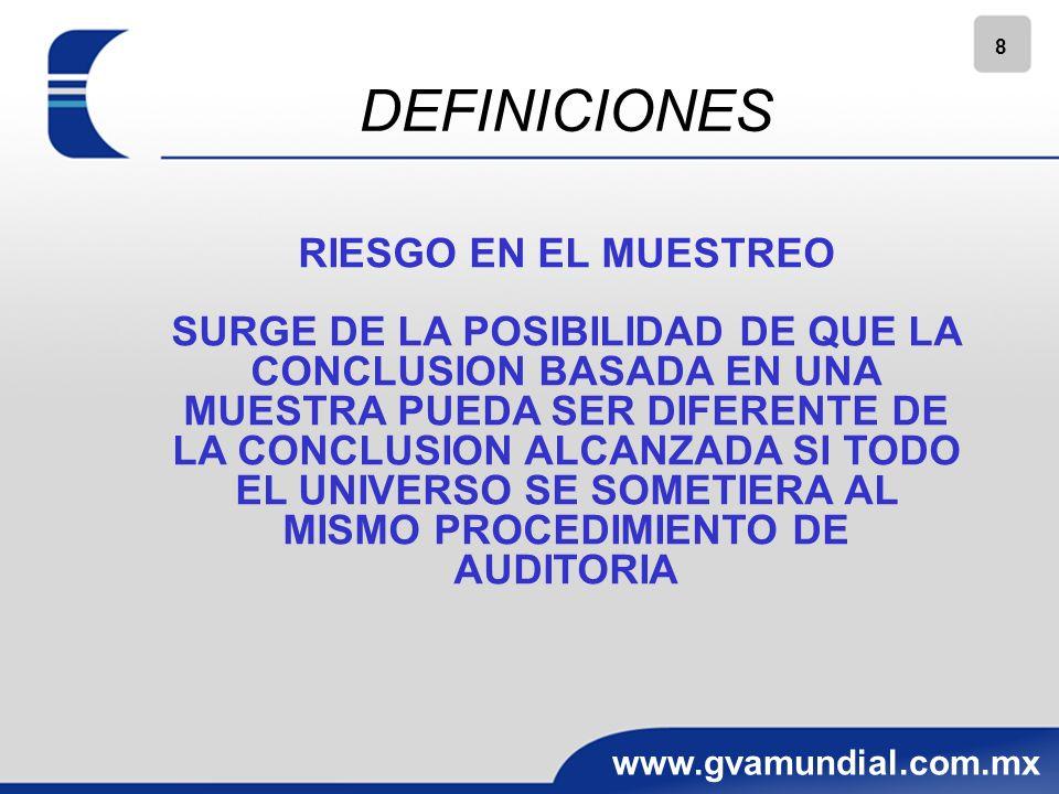 DEFINICIONES RIESGO EN EL MUESTREO