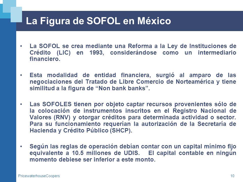 La Figura de SOFOL en México