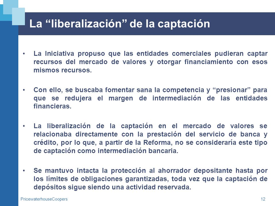 La liberalización de la captación