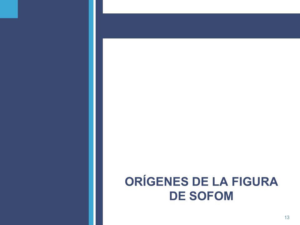 ORÍGENES DE LA FIGURA DE SOFOM