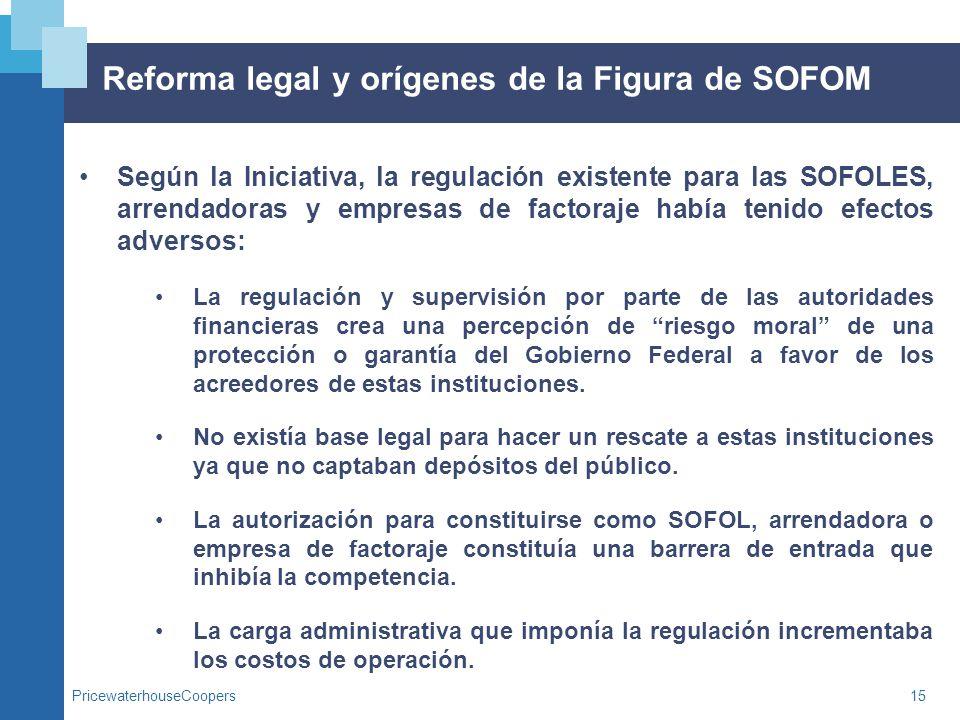 Reforma legal y orígenes de la Figura de SOFOM
