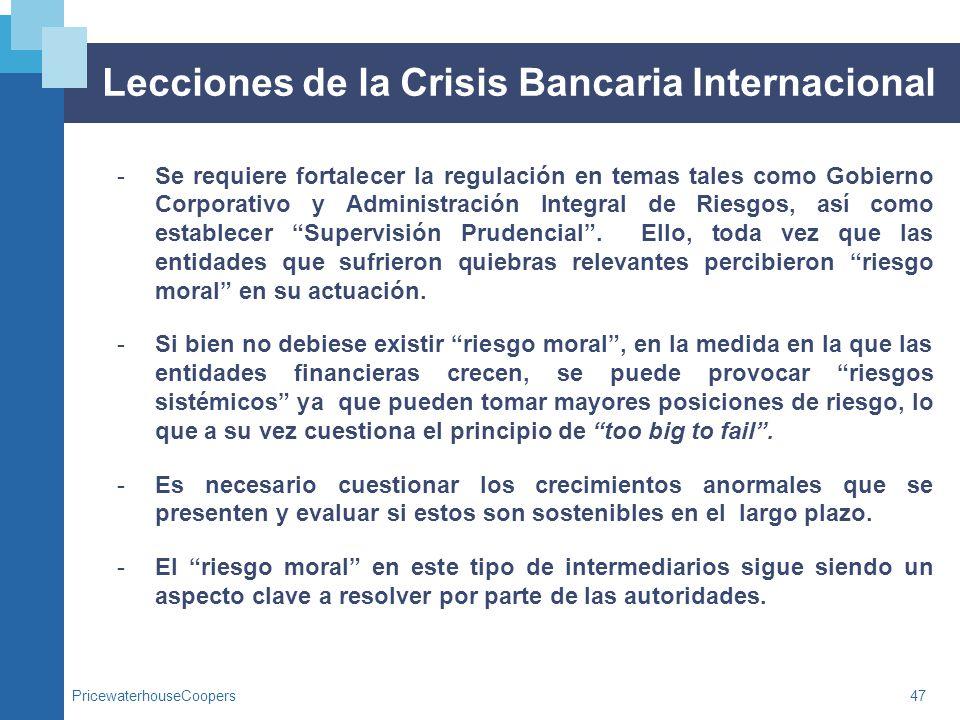 Lecciones de la Crisis Bancaria Internacional
