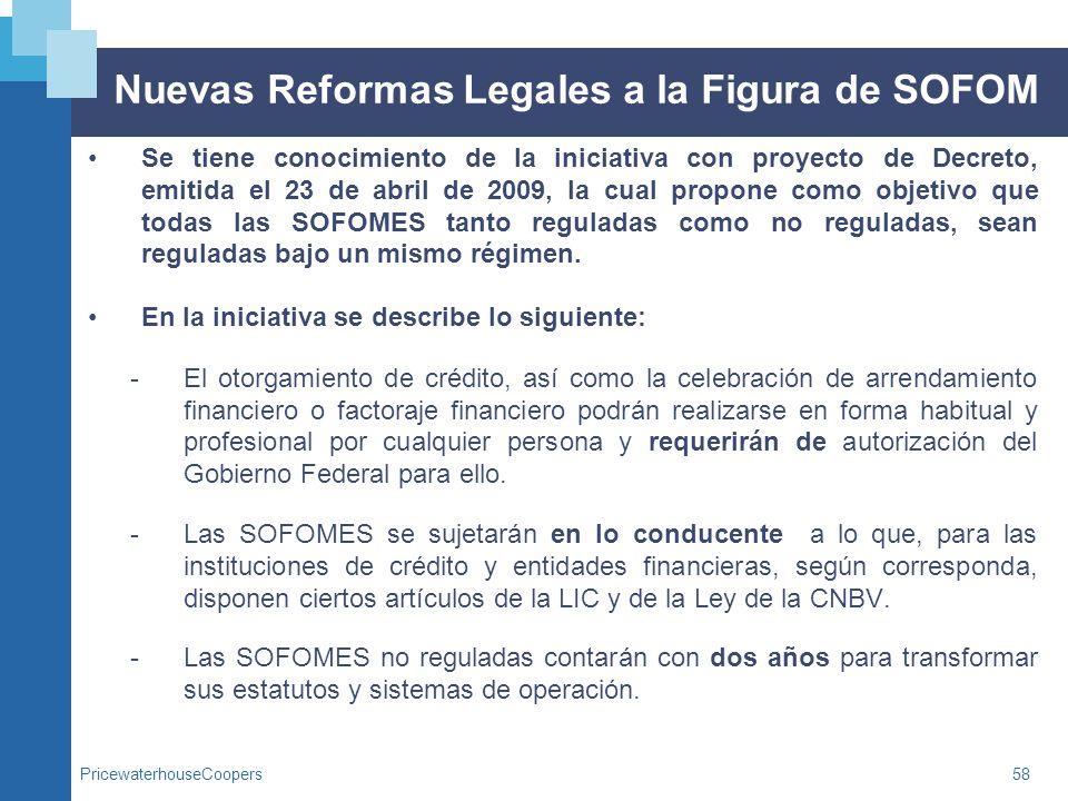 Nuevas Reformas Legales a la Figura de SOFOM