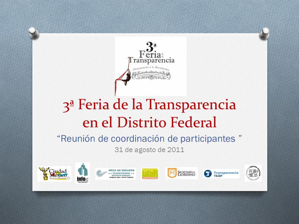 3ª Feria de la Transparencia en el Distrito Federal