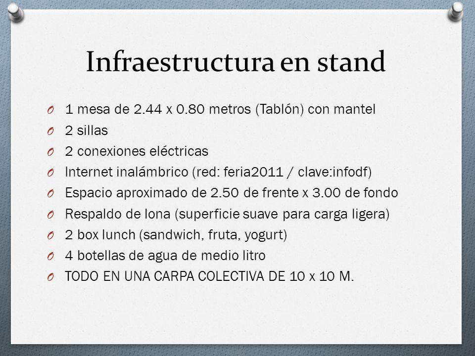 Infraestructura en stand