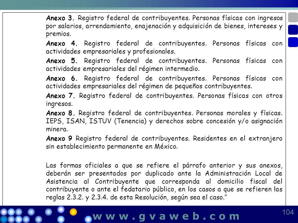 Anexo 3. Registro federal de contribuyentes