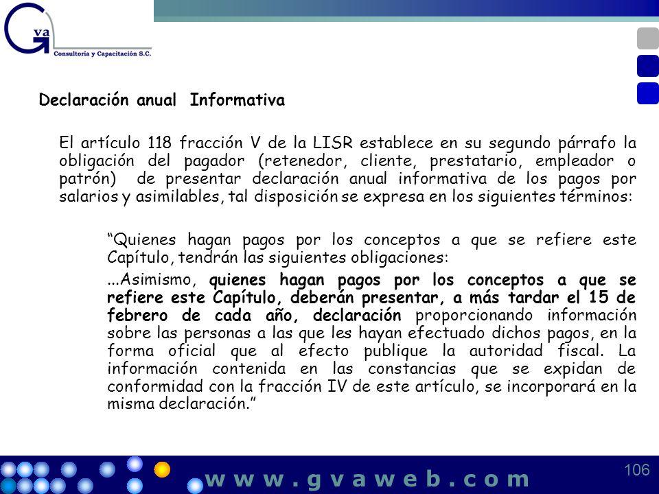 w w w . g v a w e b . c o m Declaración anual Informativa