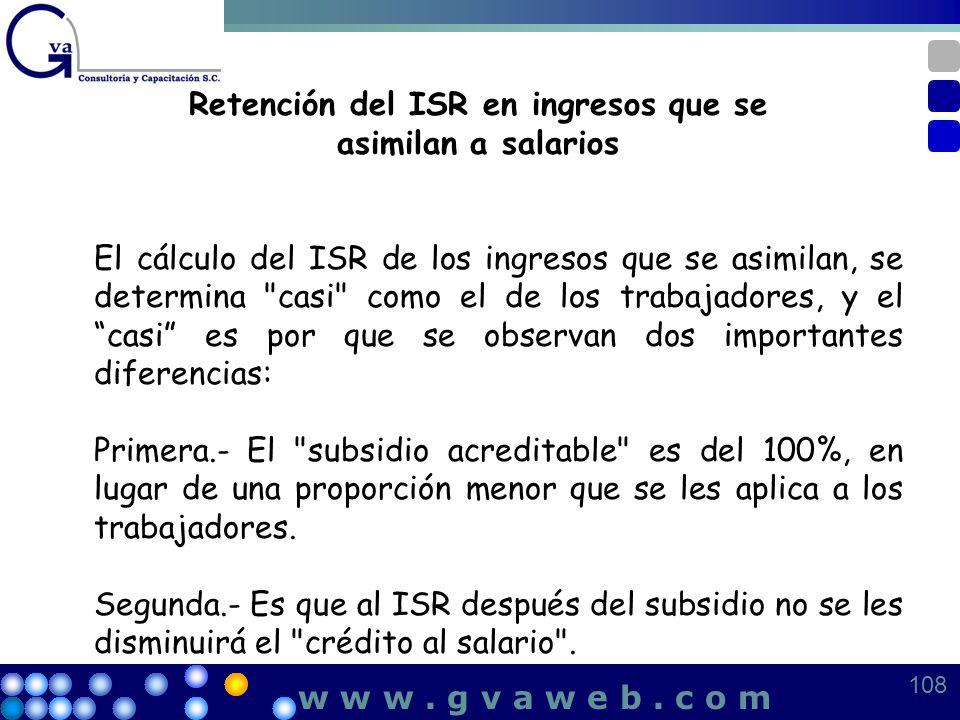 Retención del ISR en ingresos que se