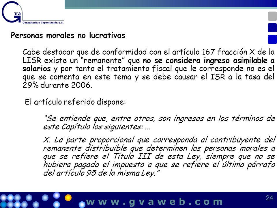 w w w . g v a w e b . c o m Personas morales no lucrativas