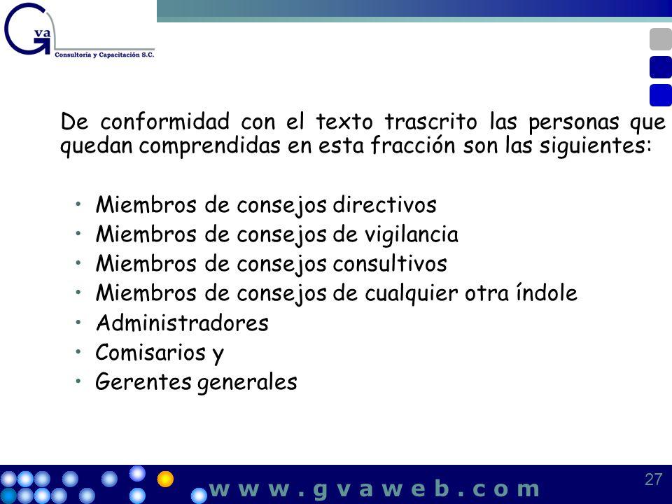 Miembros de consejos directivos Miembros de consejos de vigilancia