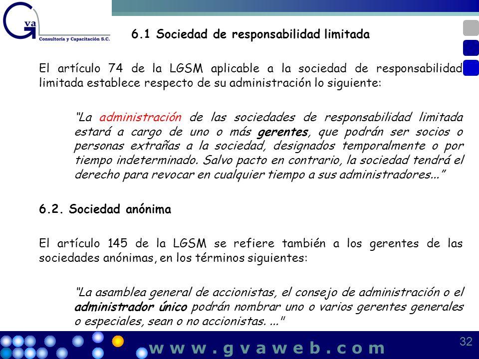 6.1 Sociedad de responsabilidad limitada