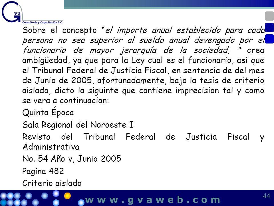w w w . g v a w e b . c o m Quinta Época Sala Regional del Noroeste I