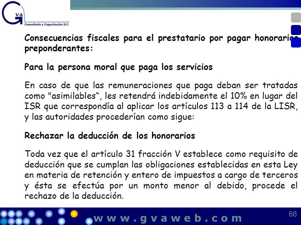 Consecuencias fiscales para el prestatario por pagar honorarios preponderantes: