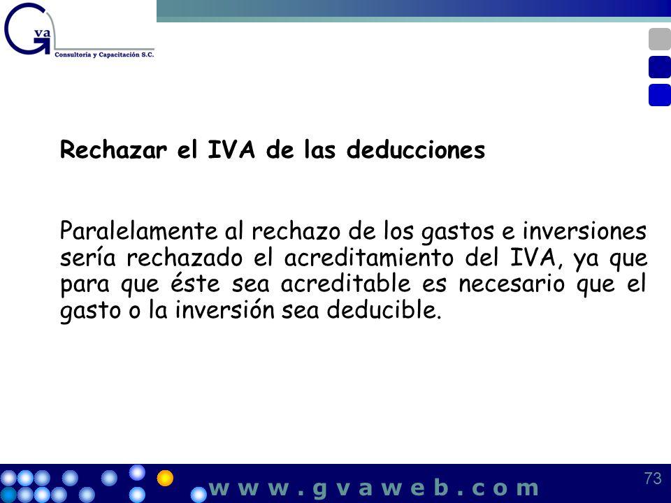 Rechazar el IVA de las deducciones