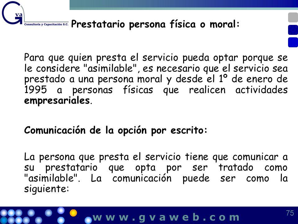 Prestatario persona física o moral: