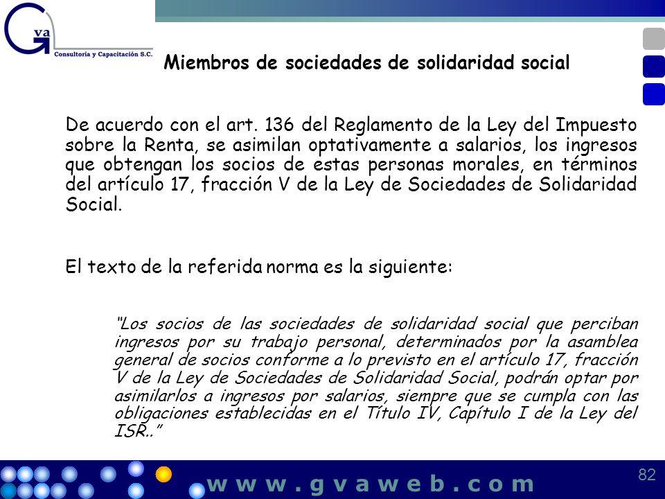 Miembros de sociedades de solidaridad social