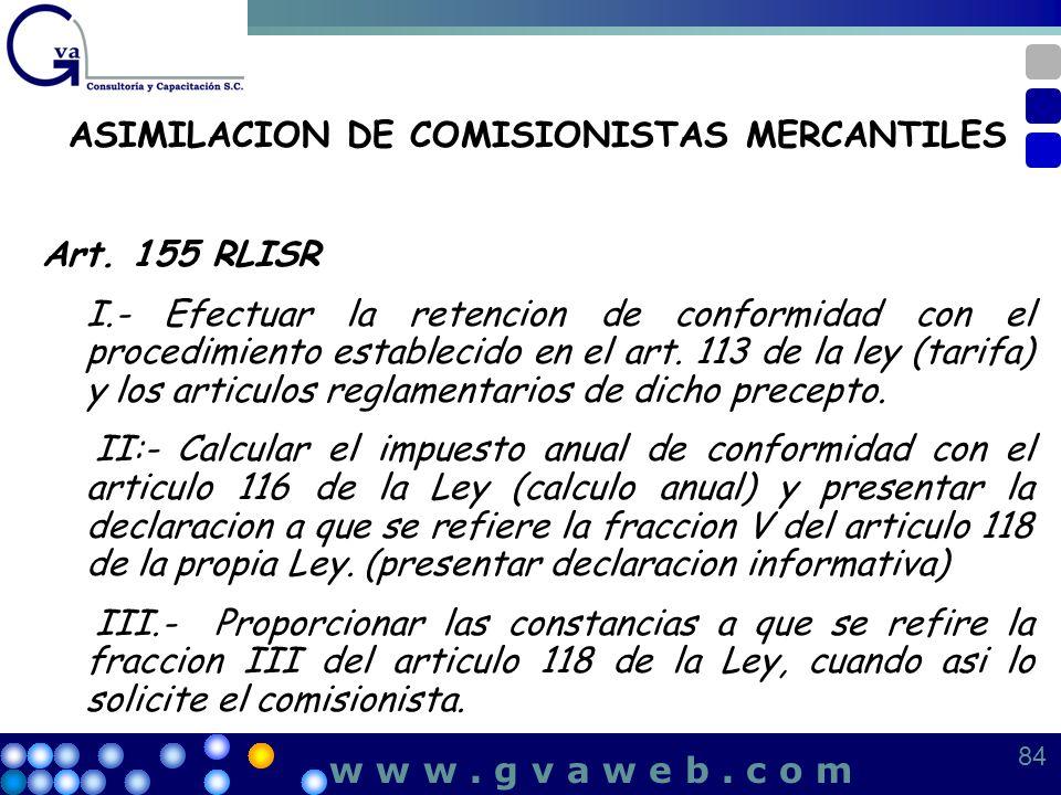 ASIMILACION DE COMISIONISTAS MERCANTILES