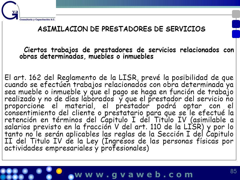 ASIMILACION DE PRESTADORES DE SERVICIOS