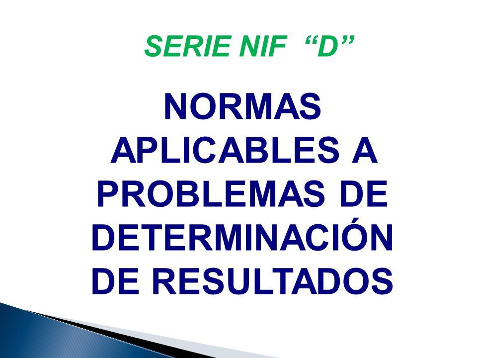 NORMAS APLICABLES A PROBLEMAS DE DETERMINACIÓN DE RESULTADOS