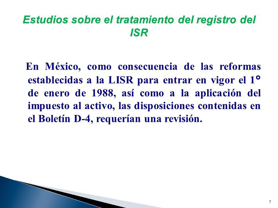 Estudios sobre el tratamiento del registro del ISR