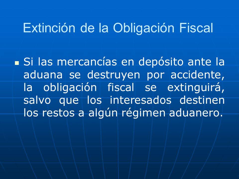 Extinción de la Obligación Fiscal