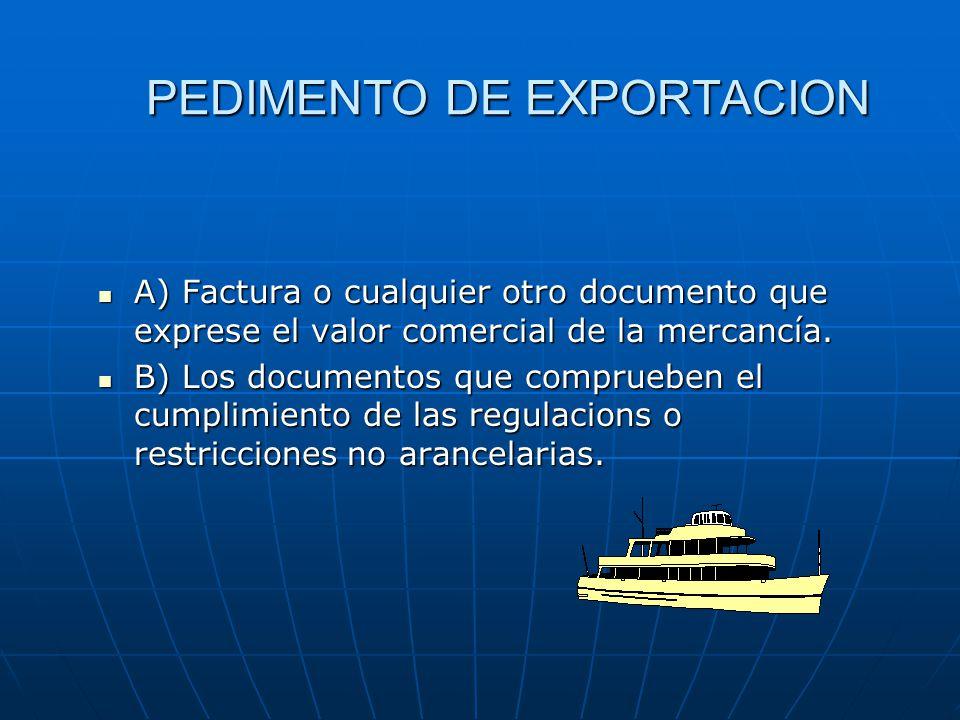 PEDIMENTO DE EXPORTACION