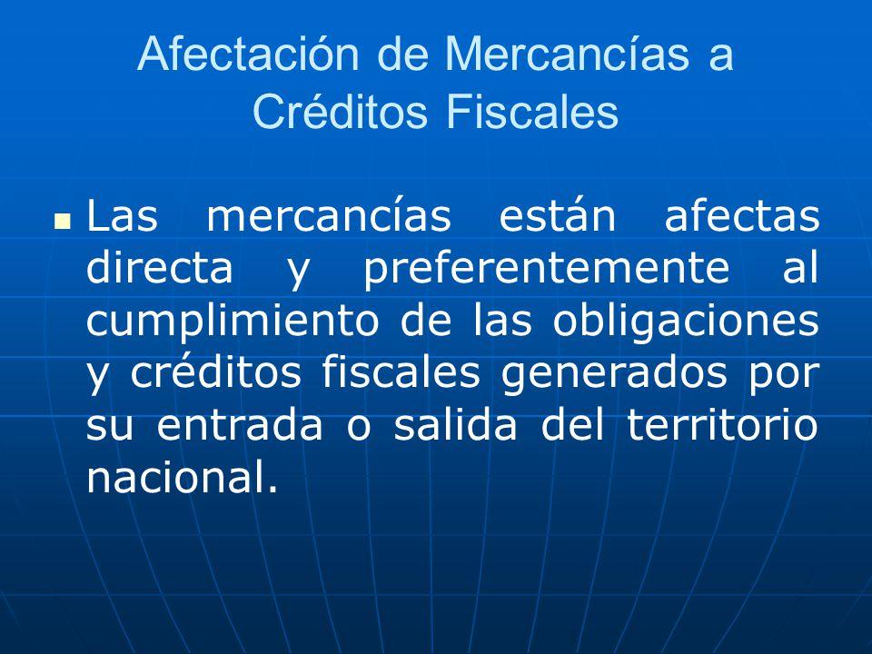 Afectación de Mercancías a Créditos Fiscales
