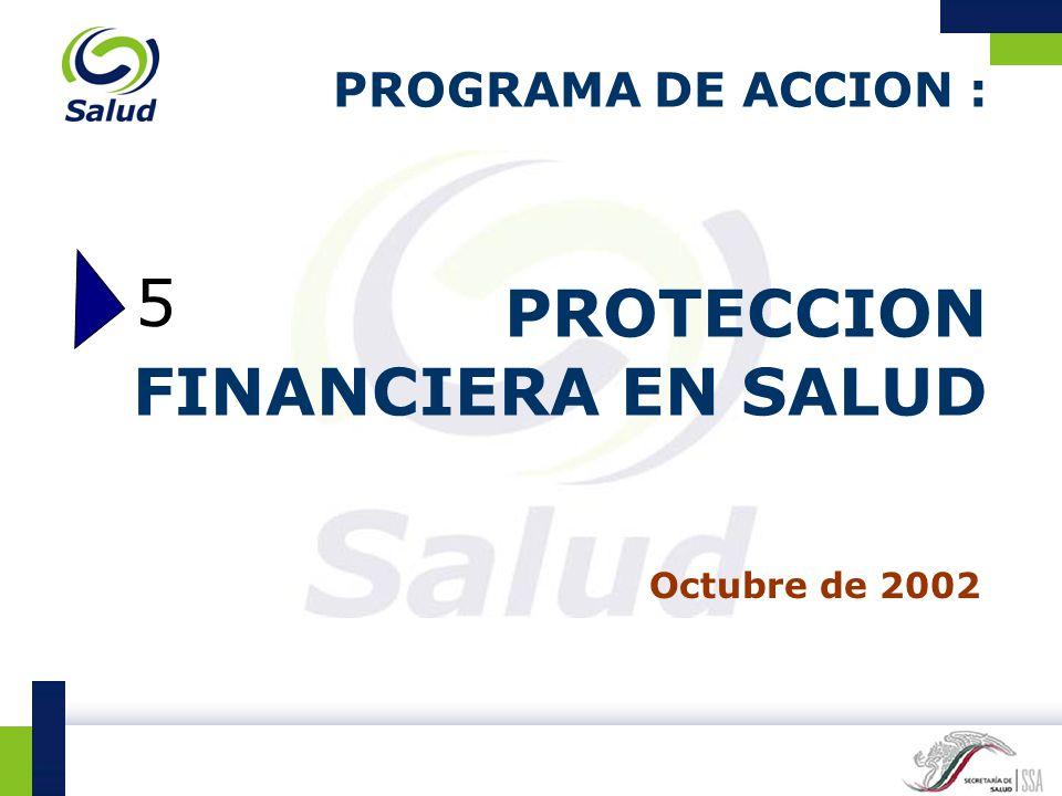 PROGRAMA DE ACCION : PROTECCION FINANCIERA EN SALUD