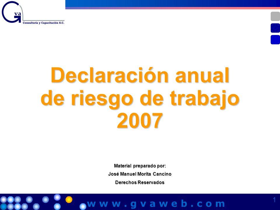 Declaración anual de riesgo de trabajo 2007