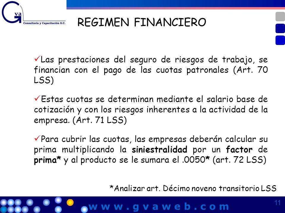 REGIMEN FINANCIERO w w w . g v a w e b . c o m