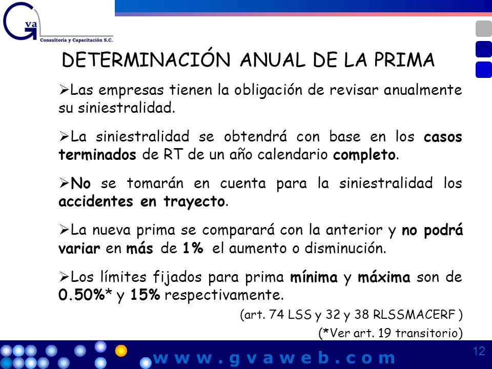 DETERMINACIÓN ANUAL DE LA PRIMA