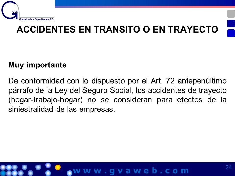 ACCIDENTES EN TRANSITO O EN TRAYECTO