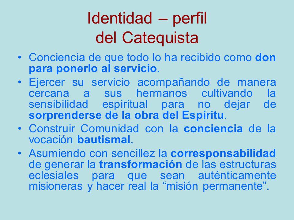 Identidad – perfil del Catequista