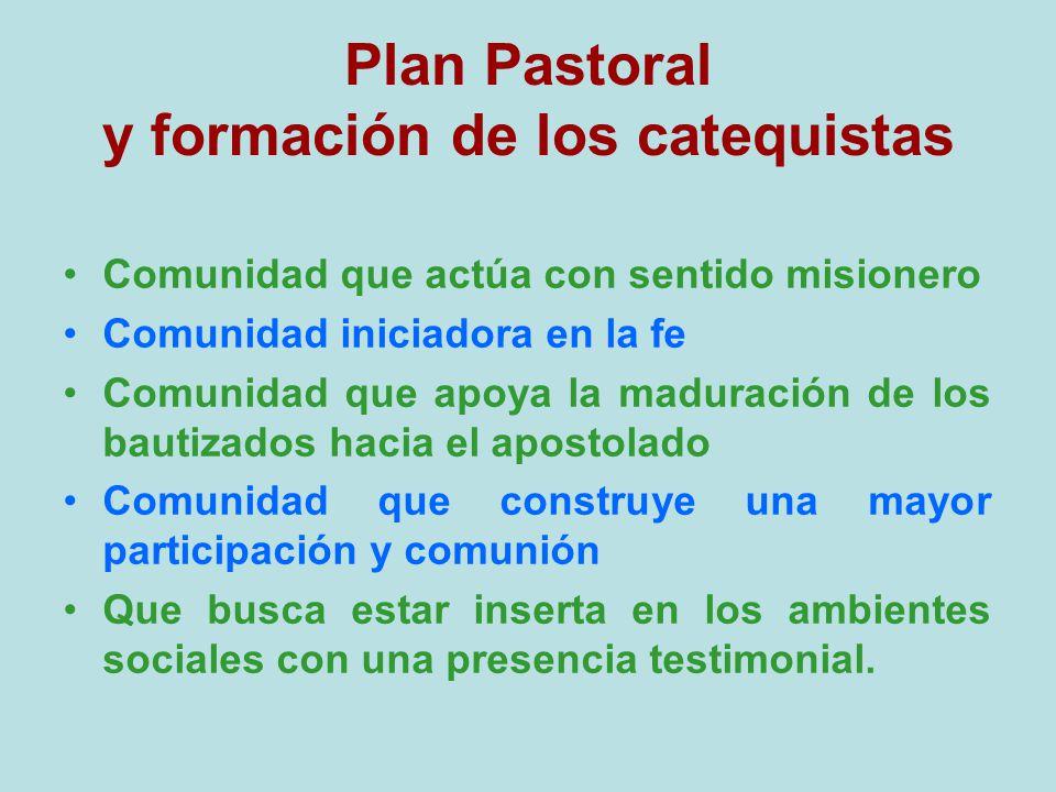 Plan Pastoral y formación de los catequistas