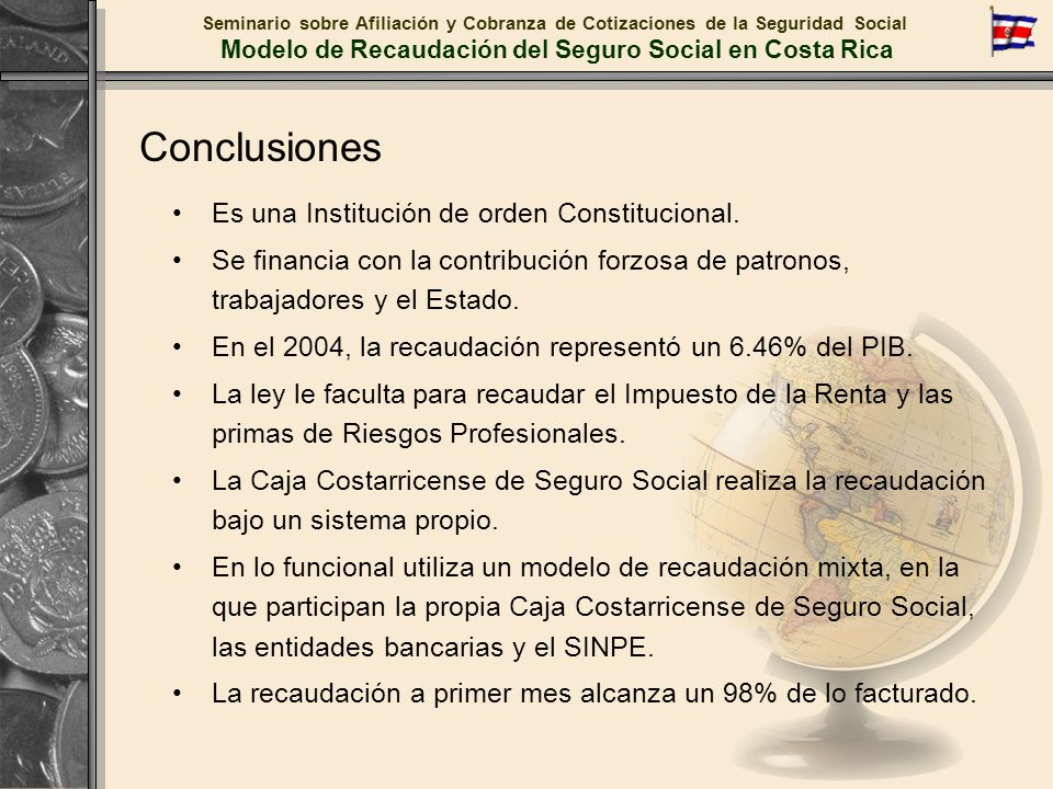 Modelo de Recaudación del Seguro Social en Costa Rica