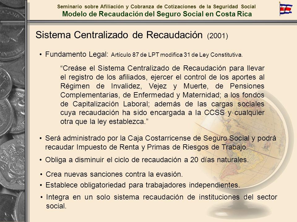 Sistema Centralizado de Recaudación (2001)