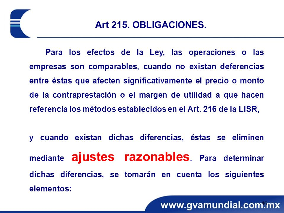 Art 215. OBLIGACIONES.