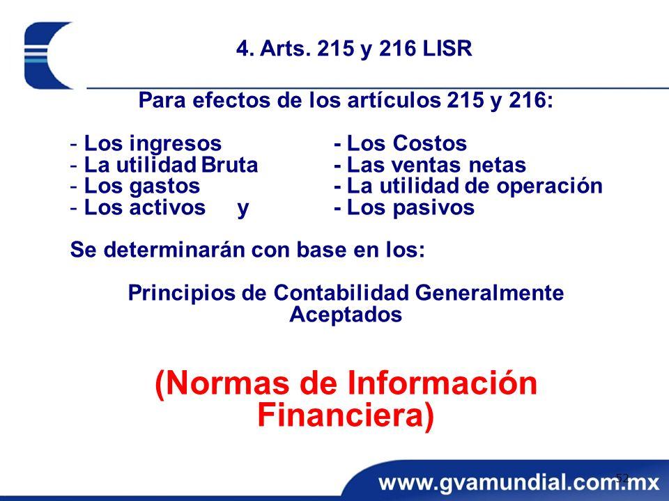 (Normas de Información Financiera)