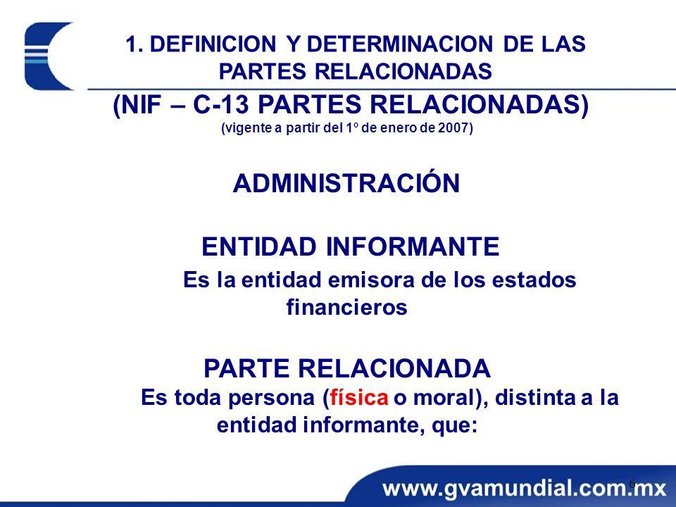 (NIF – C-13 PARTES RELACIONADAS)